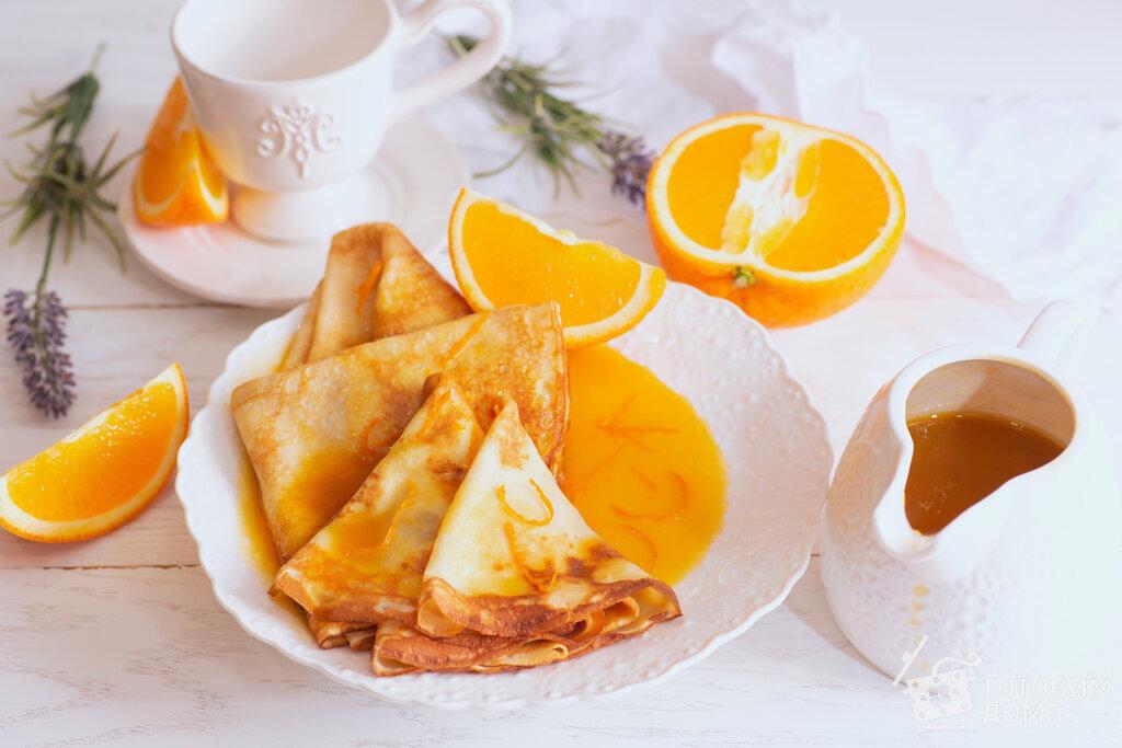 Нежные блинчики с апельсиновым соусом - пошаговый рецепт с фото на Готовим  дома