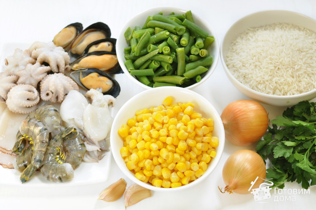 Рис с морепродуктами и овощами - пошаговый рецепт с фото на Готовим дома