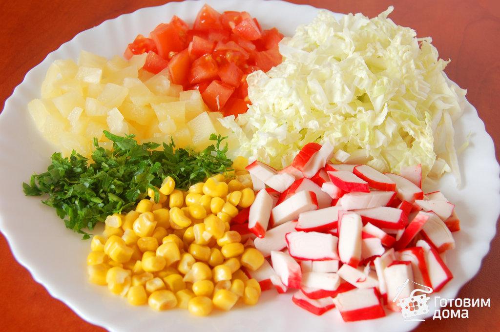 фасолевый салат с крабовыми палочками