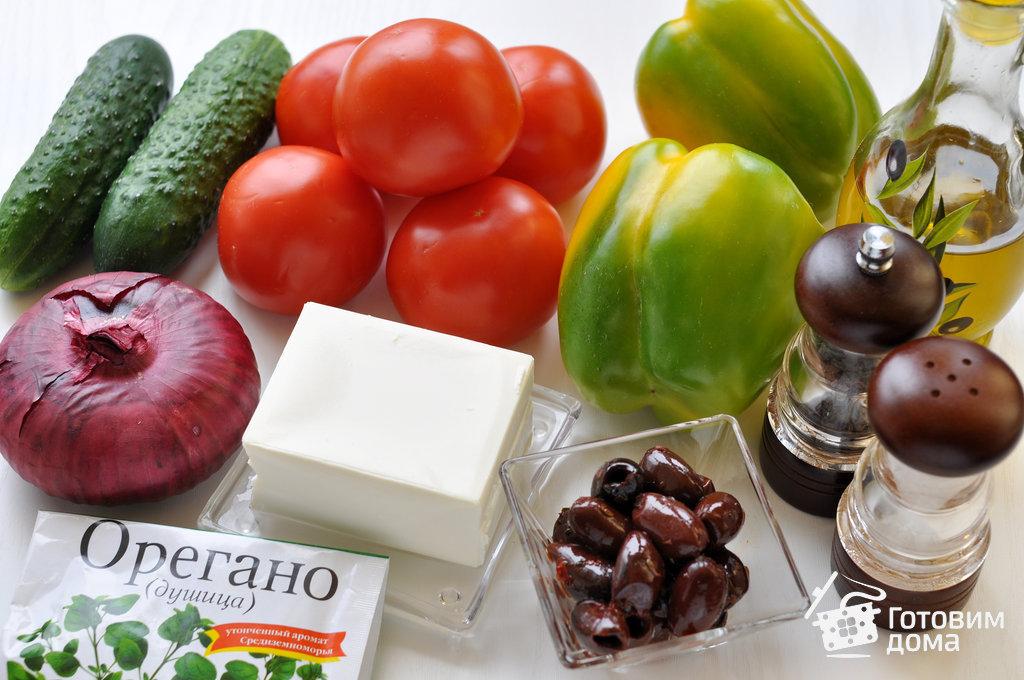 салат рецепт с фото греческий
