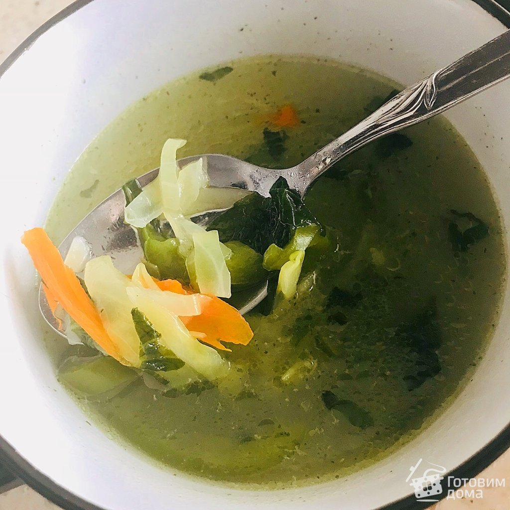 Суп на курином бульоне рецепт пошагово в