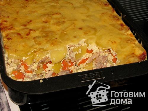 Картофельная запеканка с курицей новые фото