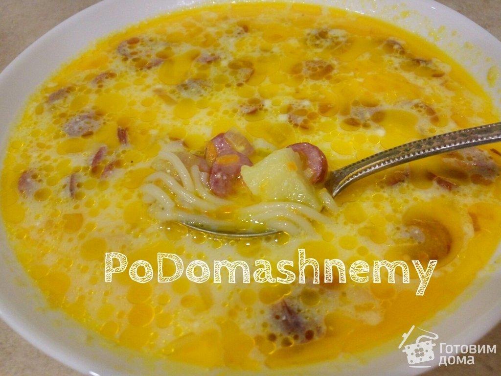 Суп сырный с колбасой рецепты