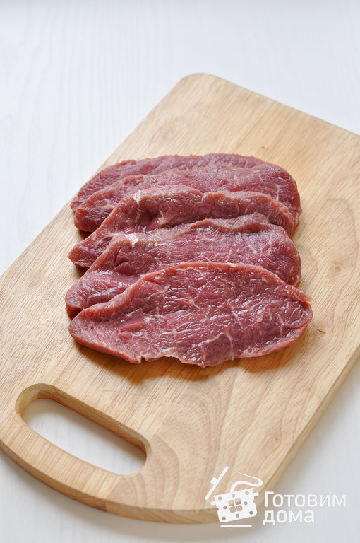Как нарезать мясо на бефстроганов