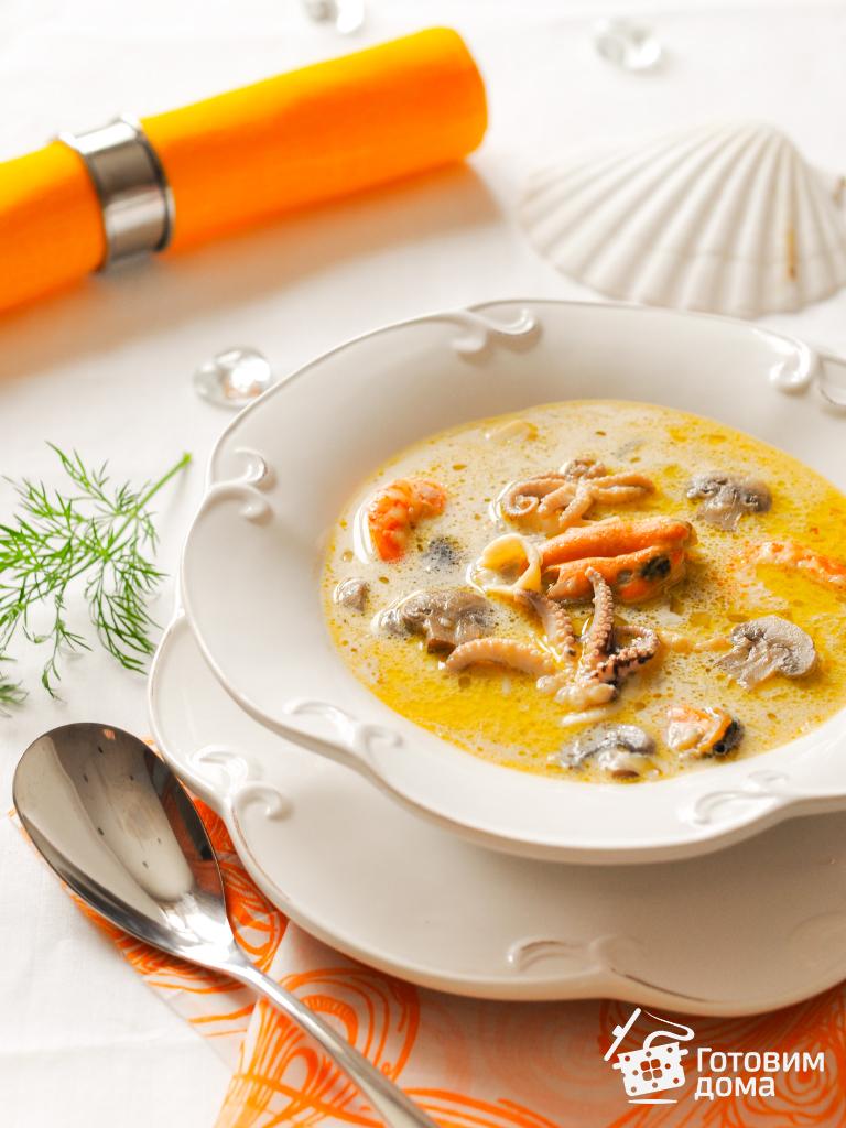 корейский суп с морепродуктами рецепт с фото
