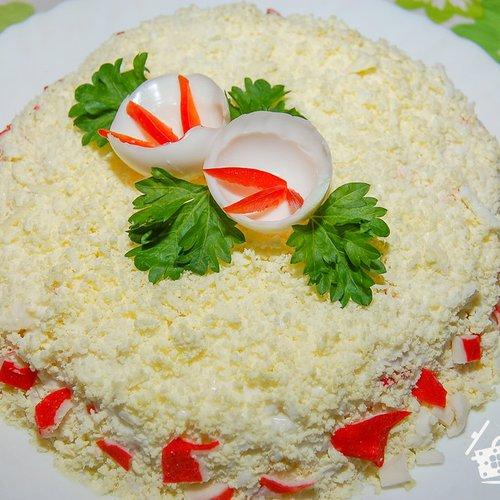 нежный крабовый салат рецепт