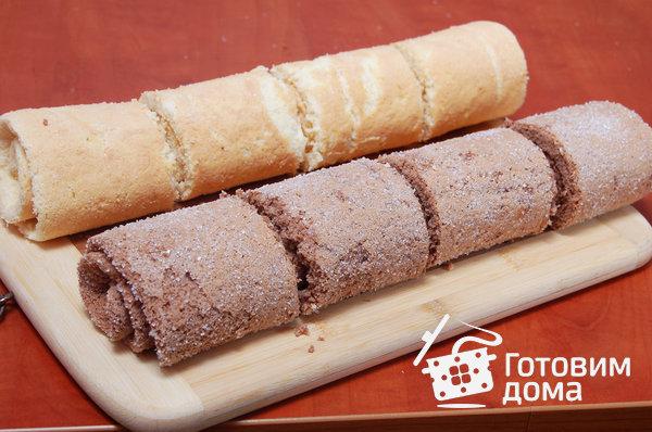 """Торт """"Очарование"""" (бисквит со взбитыми сливками и фруктами) фото к рецепту 7"""