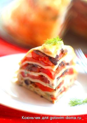 Блинный пирог с сыром