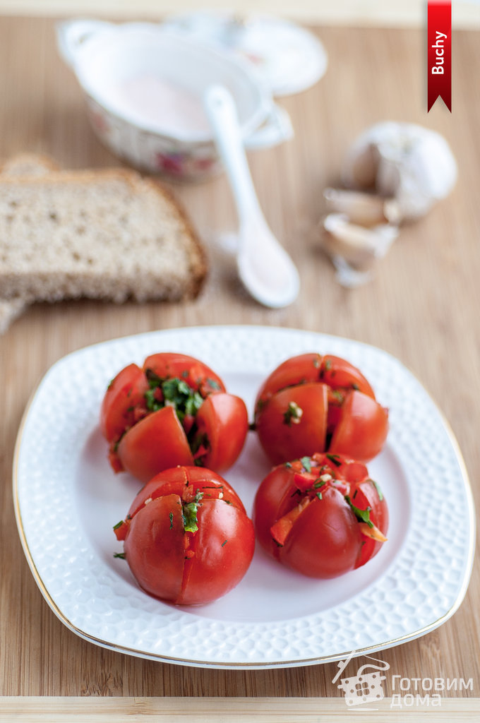 фаршированные помидоры постные