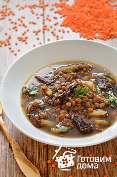 суп с сушеными грибами шампиньонами рецепт