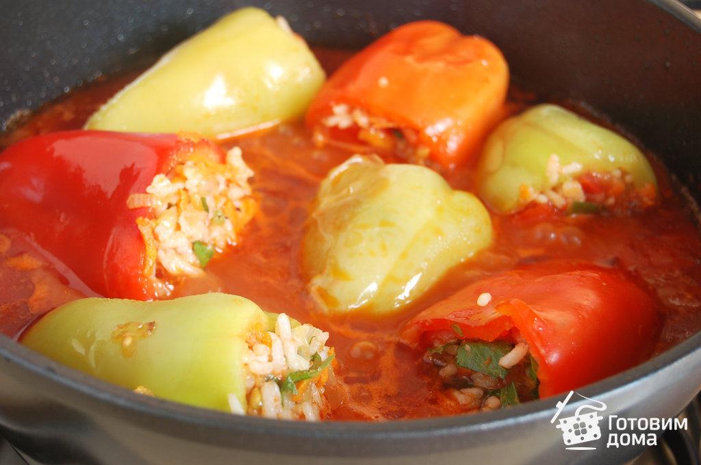 как приготовить фаршированный перец с мясом и рисом в духовке